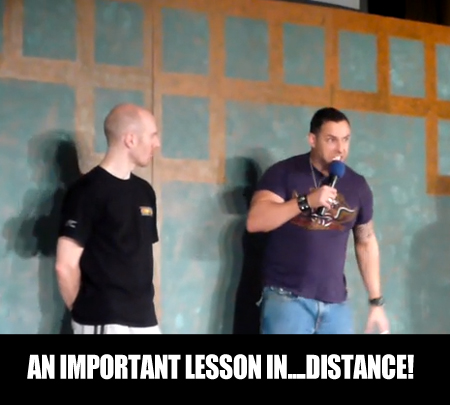 an important lesson in... distance