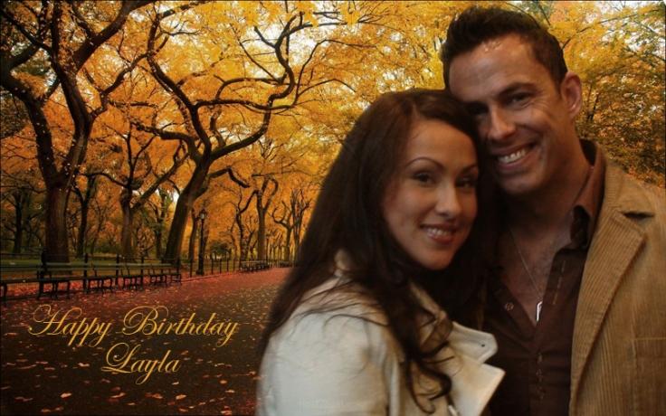 layla birthday card