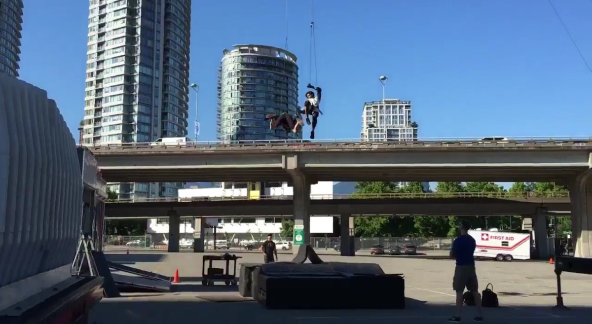 Stunt Rehearsal on Arrow